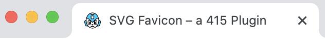 SVG Favicon Tab